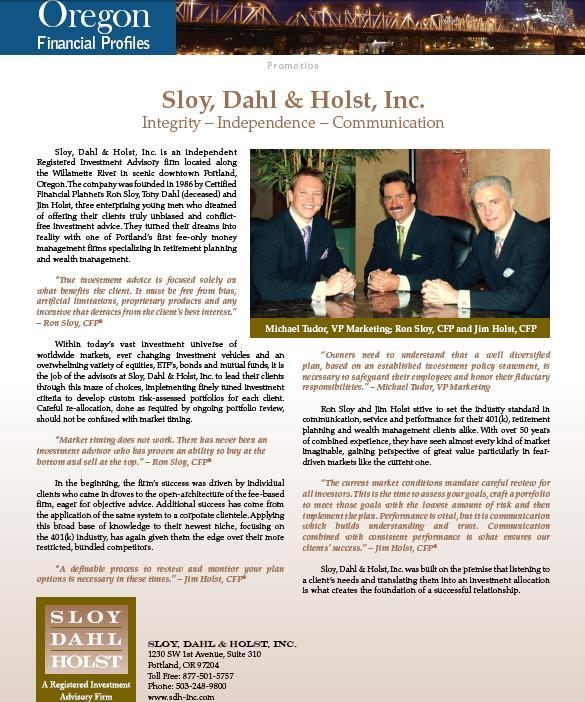 Sloy Dahl & Holst, Inc - Forbes Segment