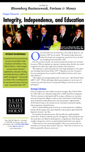 Sloy Dahl & Holst Featured in Fortune Magazine